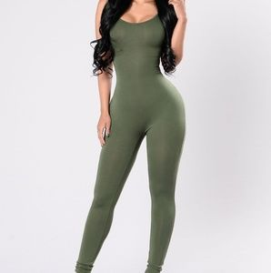 Other - Olive green jumpsuit